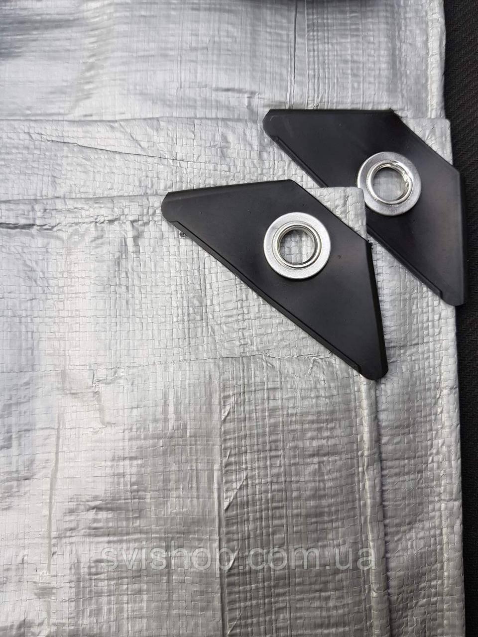 Тент для накрытия 5х6 от дождя и снега, затеняющий 150 г / м2. Серый цвет.