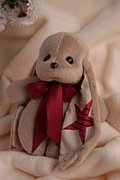 Коричневый заяц ушастик Биг с разным декором