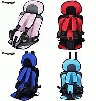 Автокресло бескаркасное для детей Mumugongzhu. Удобное дышащее регулируемое детское автокресло
