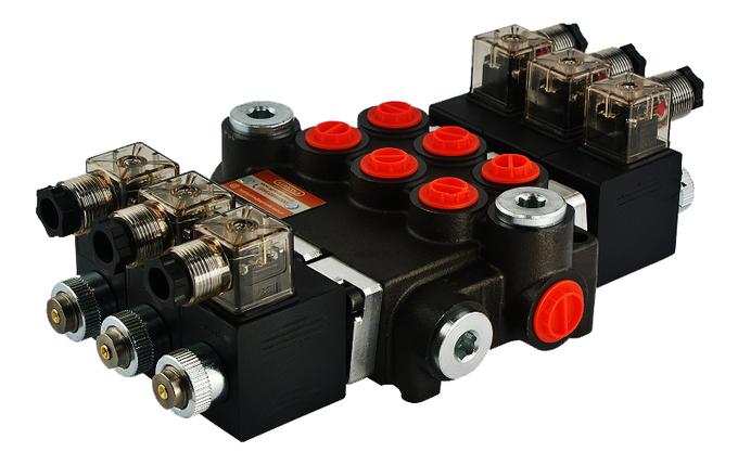 Електромагнітний гідророзподільник Z80 12/24 В (трисекційний), фото 2