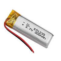 Аккумулятор 601235 Li-pol 3.7В 300мАч для RC моделей MP3 Bluetooth