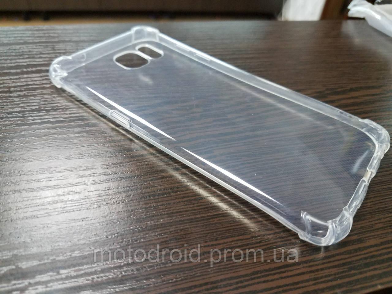 Чохол для Samsung Galaxy S7 Edge прозорий силікон