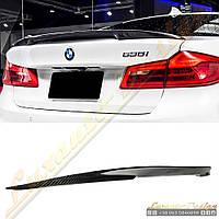 Спойлер Performance карбон для BMW 5-series G30, фото 1