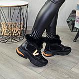 Ботинки женские в спортивном стиле из натуральной кожи и замши, фото 4