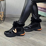 Ботинки женские в спортивном стиле из натуральной кожи и замши, фото 6