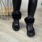 Ботинки женские в спортивном стиле из натуральной кожи и замши, фото 8