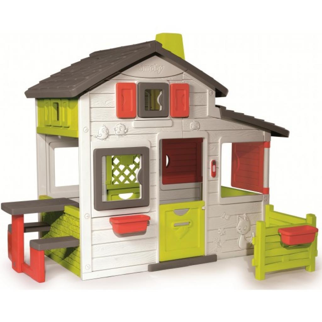 Игровой домик Smoby для друзей c чердаком и дверным звонком (310209)