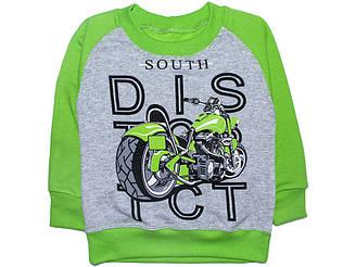 Джемпер для мальчика с начесом Мотоцикл