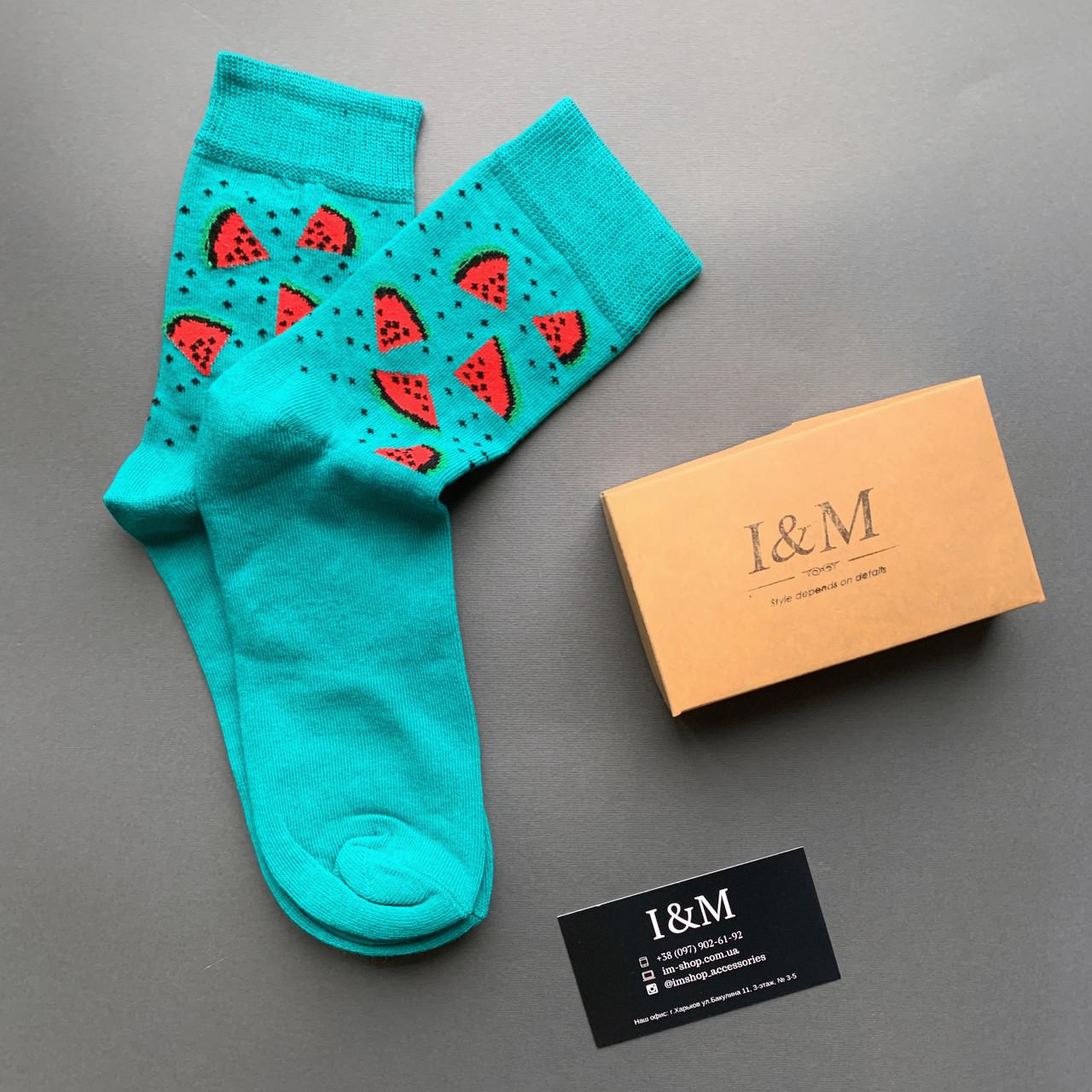 Шкарпетки I&M Craft жіночі з кавунами (070349)