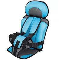 Бескаркасное автокресло Child Car Seat детское авто-кресло в машину Голубой