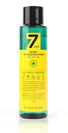 Обновляющий тонер для проблемной кожи May Island 7 Days Secret Centella Cica TonerAHA/BHA/PHA,150 мл, фото 2