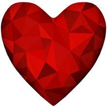 Подушка валентинка сердце средняя интерьерная, 2 размера - 37*37 см; 57*57 см
