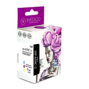 Совместимый картридж Inkdigo™ HP 650 Color (CZ102AE), чернильный, цветной, 9ml, аналог HP 650 (CZ102A)