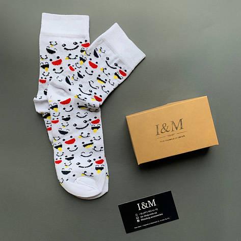 Шкарпетки I&M Craft жіночі білі зі смайлами (070356), фото 2