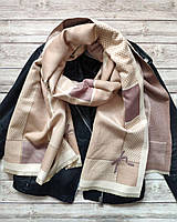 Кашемировый шарф-плед бежевый
