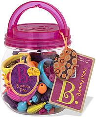 Набор для изготовления украшений Поп-Арт 150 деталей Battat Pop Snap Bead Jewelry Set Pop Arty BX1373Z