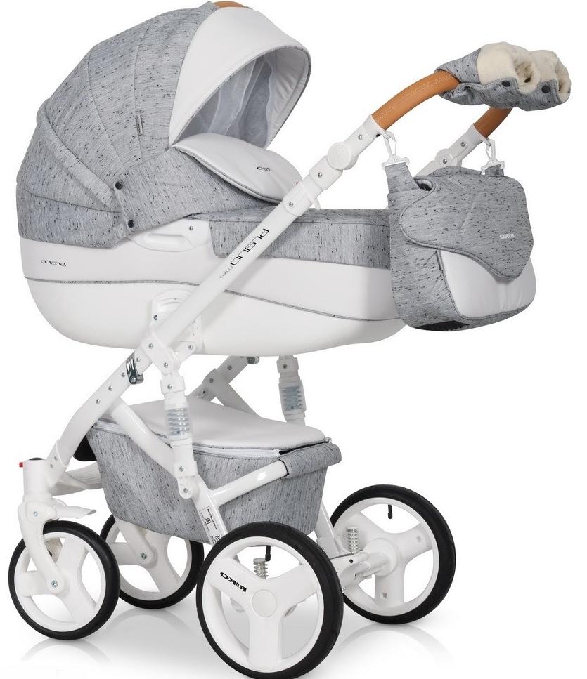 Детская универсальная коляска 3 в 1 Riko Brano Luxe 05 Grey Fox