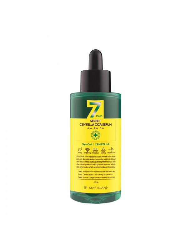 Обновляющая сыворотка для проблемной кожи May Island 7 Days Secret Centella Cica Serum AHA/BHA/PHA, 50 мл