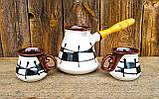 Набір кавовий 350 мл декор Ґаларетка чорно-білий, фото 2