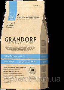 Корм Grandorf для кошек с белой рыбой   Grandorf White Fish & Rice Adult Sensitive 6 кг