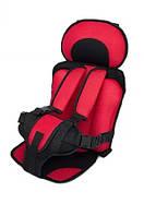 Бескаркасное автокресло Child Car Seat детское авто-кресло в машину Красный