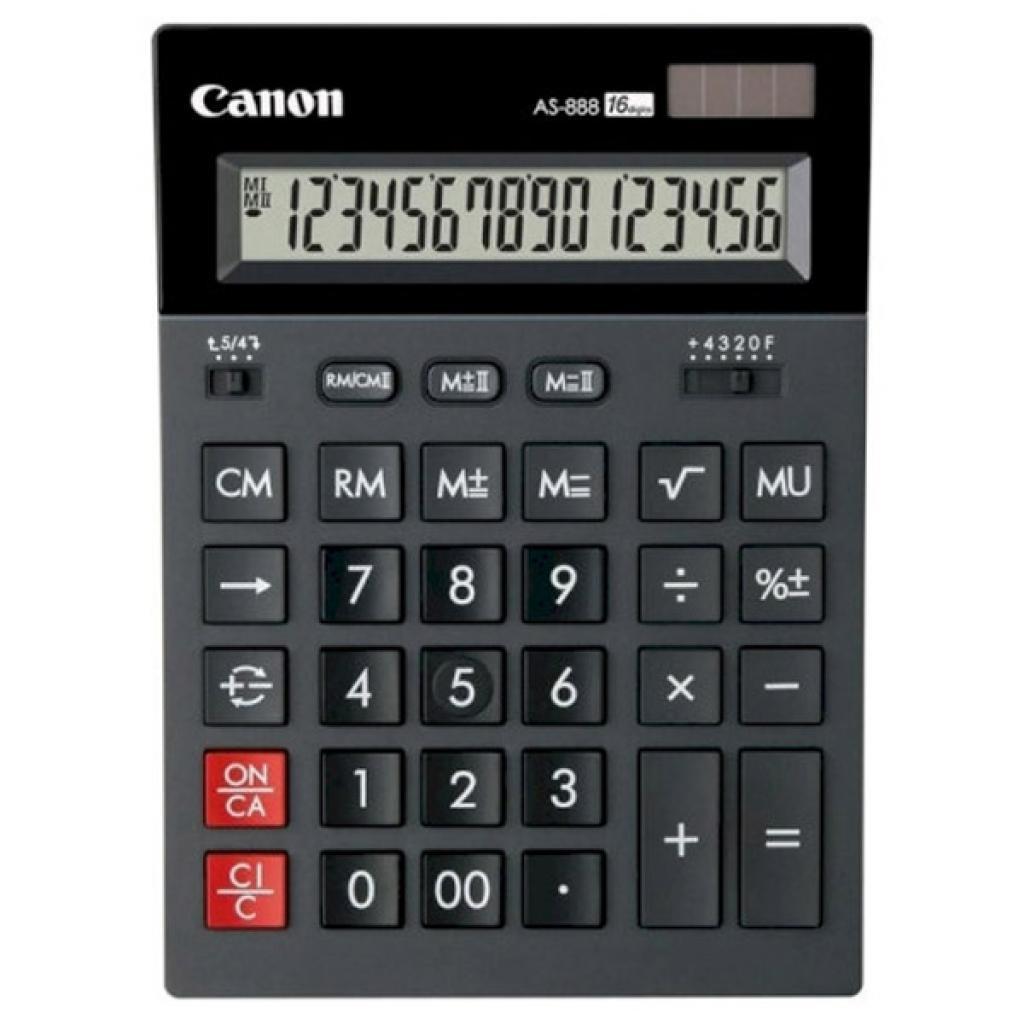 Калькулятор Canon AS-888 II Black (2657C001)