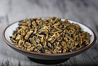 """Элитный красный чай Цзинь Ло дянь хун """"Золотая спираль Юньнани"""" скрученный премиум качества"""