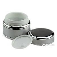 Баночка для крема серебряная 30 мл Salon