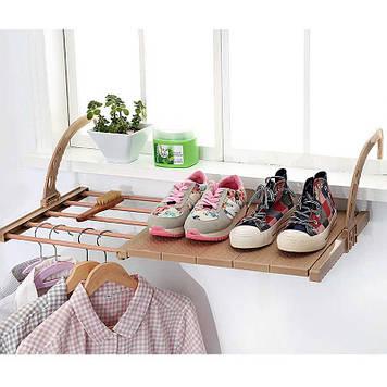 Сушилка на балкон с полкой для обуви