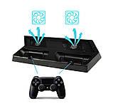 Подставка охлаждающая, зарядная станция для игровой консоли Playstation 4 PS4 slim и 2-х джойстиков, фото 4