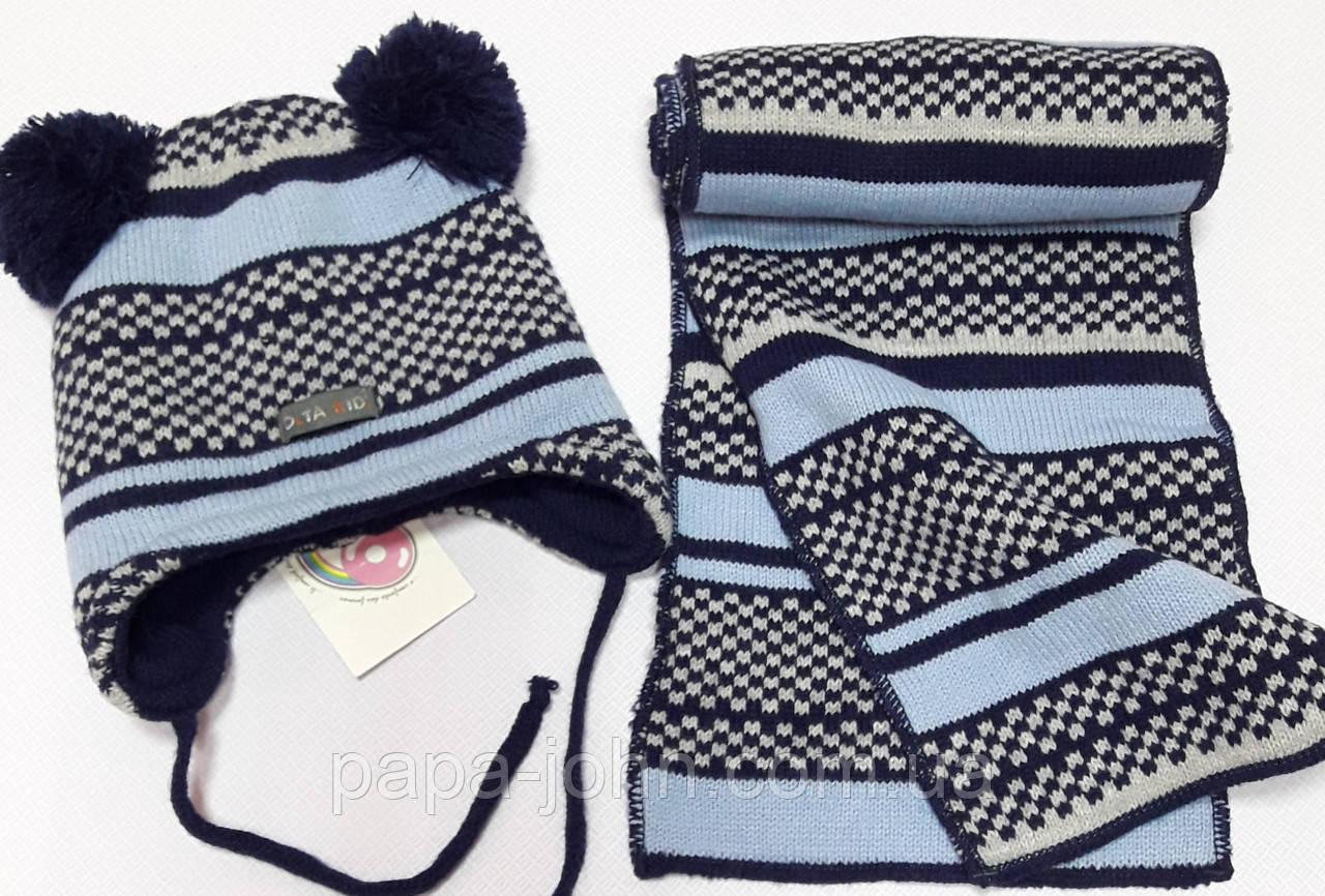 Шапка + шарф в'язка, Olta, 1-3 років