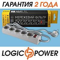 Сетевой фильтр LP-X5 PREMIUM LogicPower - 3 метра, 5 розеткок (серый)