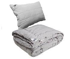 Одеяло с Подушкой Полуторное 140х205 GREY силикон 200г/м2 Руно 925.52Grey