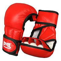 REYVEL Перчатки рукопашные / кожа / Красный  размер L