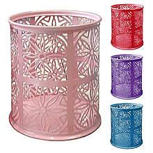 Подставка-стакан 1324 ЛЕПЕСТОК КРУГЛЫЙ, АЖУРНЫЙ-МЕТАЛ, 4 цвета