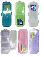 Пенал-футляр для кистей, 303,  двухуровневый,  пластик