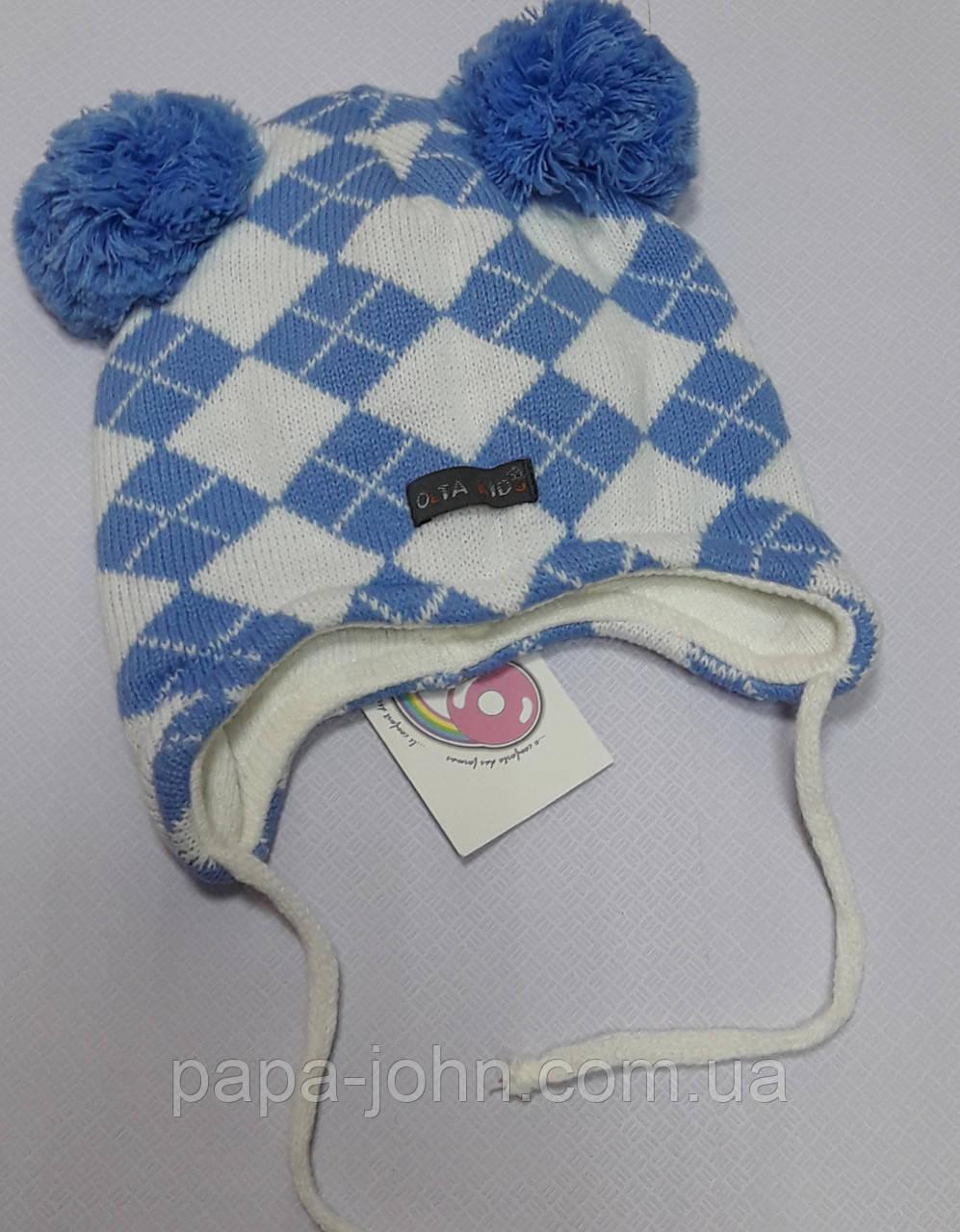 Шапка в'язка,блакитний, Olta, 2-4 років