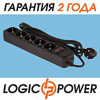 Сетевой фильтр LP-X5 LogicPower - 3 метра, 5 розеток (чёрный) OEM
