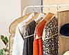 Комплект накидок-чехлов для одежды 3 шт (бежевый), фото 2