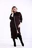 Платье с косой молнией для пышных дам, 44-74 размер