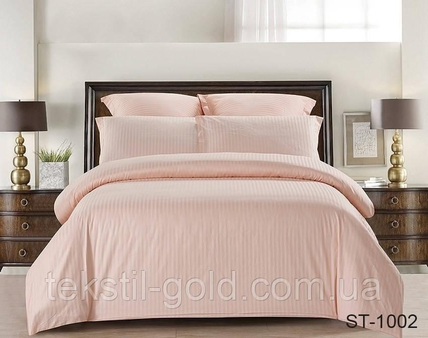 Евро комплект постельного белья ST-1002 страйп-сатин (Наволочки 4 шт) ТМ TAG