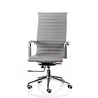 Крісло офісне Solano artlеathеr, Special4You Сірий