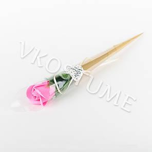 """Подарочный букет с розой из ароматного мыла """"Thank You"""", розовый, фото 2"""