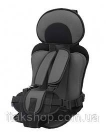 Бескаркасное автокресло Child Car Seat детское авто-кресло в машину Серый