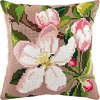 Яблуневий цвіт — Чарівниця (подушки) подушка хрестиком 40×40 см