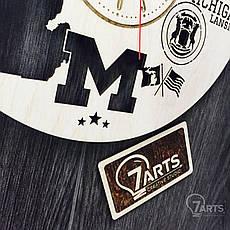 Дизайнерские часы на стену «Лансинг, Мичиган», фото 3