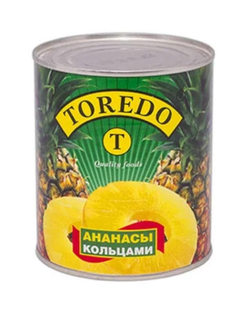 "Ананасы кольца 850мл ""Торедо"""
