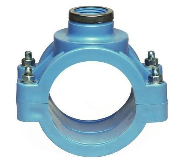 Хомут Unidelta, PN16, d 110, для врезки в ПНД, ПП, ПВХ трубопровод