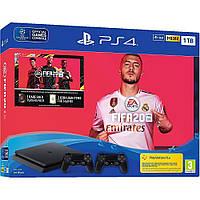 Игровая приставка Sony PlayStation 4 Slim 1TB + FIFA 20 + DualShock 4 консоль, фото 1