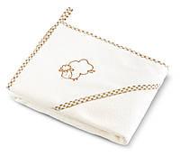 Детское махровое полотенце с уголком Sensillo Sheep Beige